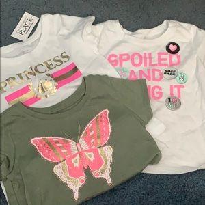 3  toddler girl t shirts